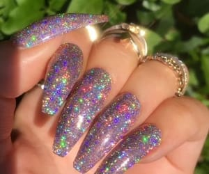 girl, nails, and gliiter image