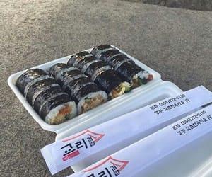 food, korean, and sushi image