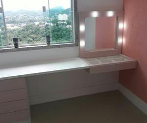 bedroom, desing, and espelho image