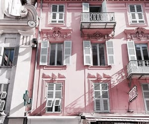 city, pink, and architecture image