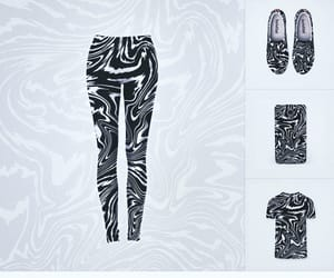b&w, leggings, and threadless image