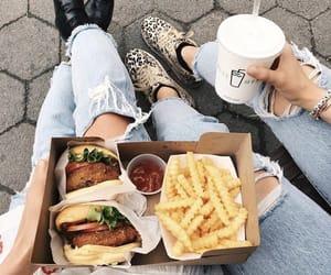 fashion, food, and girl image