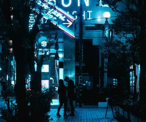 aesthetic, blue, and neon image