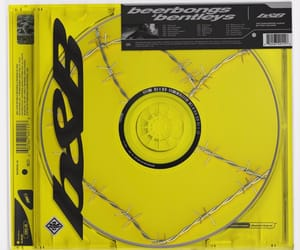 album, yellow, and post malone image