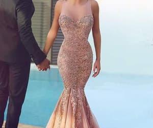 prom dresses, mermaid prom dress, and trumpet dress image