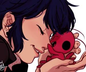 ladybug, marinette, and tikki image