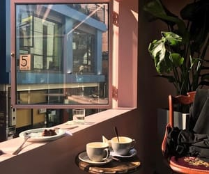 interior, cafe, and coffee image