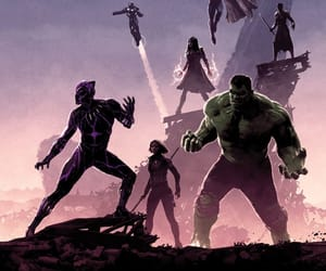 Hulk, black panther, and black widow image