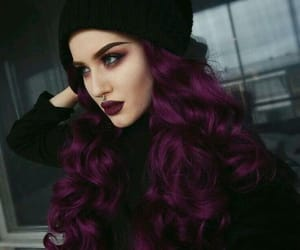 purple, hair, and purple hair image