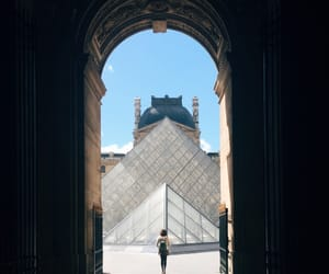 cities, paris, and louvre image