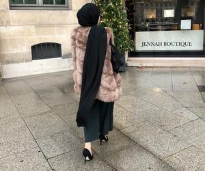 fashion, heels, and hijab image