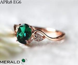 fashion, jewelry, and emerald gemstone image