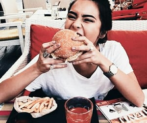 girl, food, and burger image