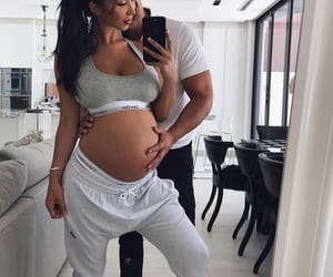 baby, bump, and couple image