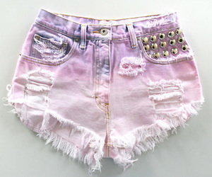 shorts, purple, and pink image