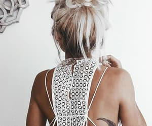 blond hair, girl, and hair image