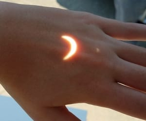 moon, hand, and aesthetic image