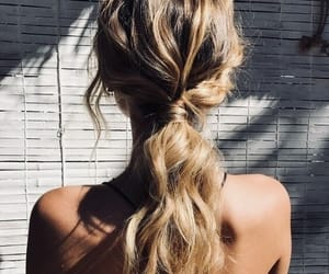 curly, girl, and long image