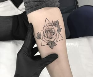 tattoo, rose, and style image