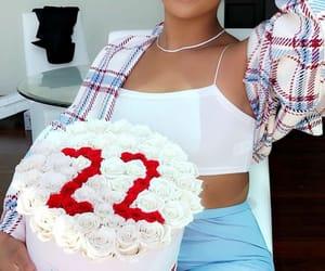 birthday cake, gifts, and birthday girl image