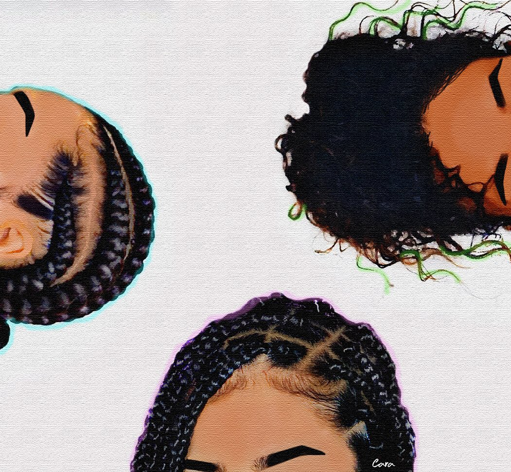 article, braids, and curly image