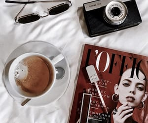 camera, coffee, and drink image