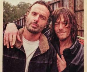 norman reedus, andrew lincoln, and rick grimes image