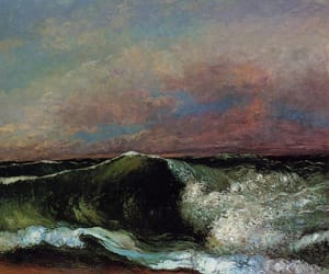 painting, art, and sea image
