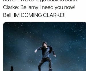 bellamy, funny, and clarke image