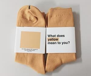 socks, yellow, and aesthetic image