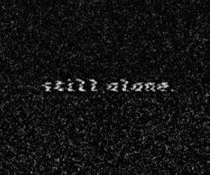 alone, gif, and black and white image