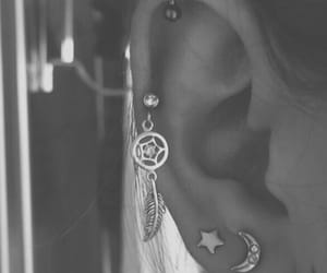 crescent, ear, and earring image