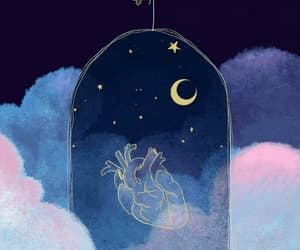 gif, heart, and stars image