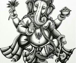 black, Ganesh, and god image