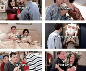 chandler bing, Courteney Cox, and funny image