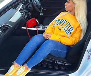 vans, yellow, and blonde image
