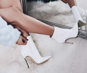 white, shoes, and fashion image