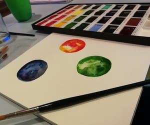 aquarell, art, and colourful image