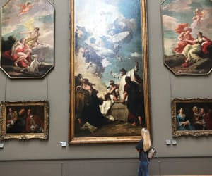 art, louvre, and museum image