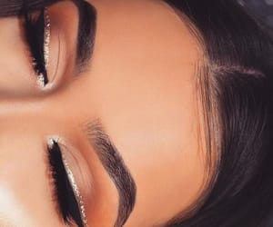 makeup, beauty, and eyebrows image