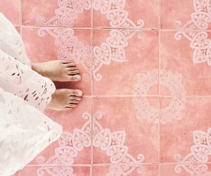 boho, floor, and from above image