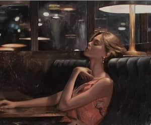 alone, sad, and art image