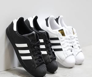 adidas, black and white, and chic image