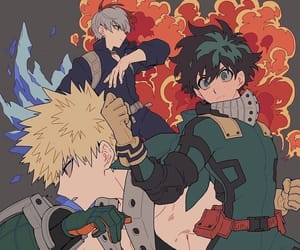 boku no hero academia, bakugou, and midoriya image
