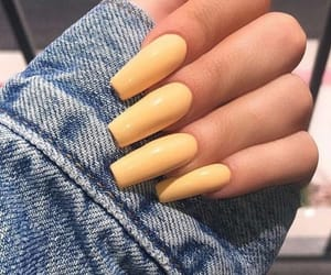 nails, yellow, and tumblr image