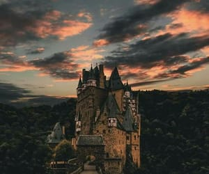 castle, nature, and wood image