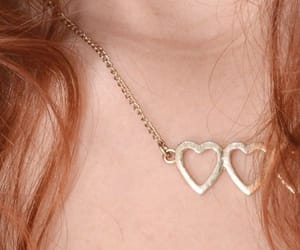 heart, heart necklace, and red hair image