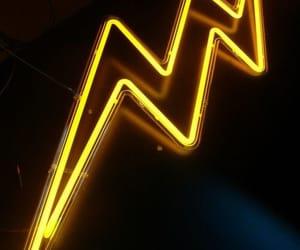 yellow, neon, and light image