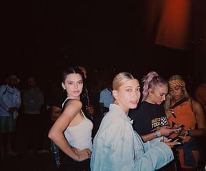 hailey baldwin, kendall jenner, and model image