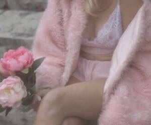 flower, fur, and lace image